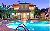 Villa Anemoni - Pool front and swimming pool at night