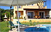 Villa Chloe - Barbecue, main terrace and swimming pool