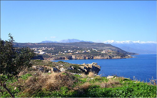 Gerani (Rethymnon): View from Cape Mavromouri